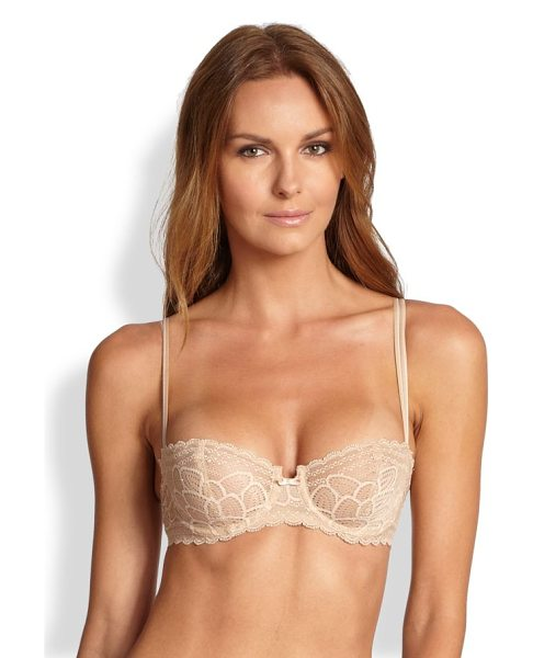 Chantelle merci lace demi underwire bra in nude - Floral lace essential featuring demi-cups with underwire...