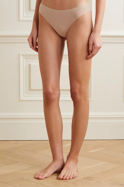 Chantelle soft stretch jersey thong in neutral