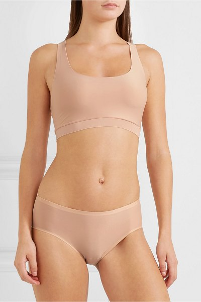Chantelle soft stretch jersey bra in sand - Chantelle's seamless bra demonstrates that the Parisian...