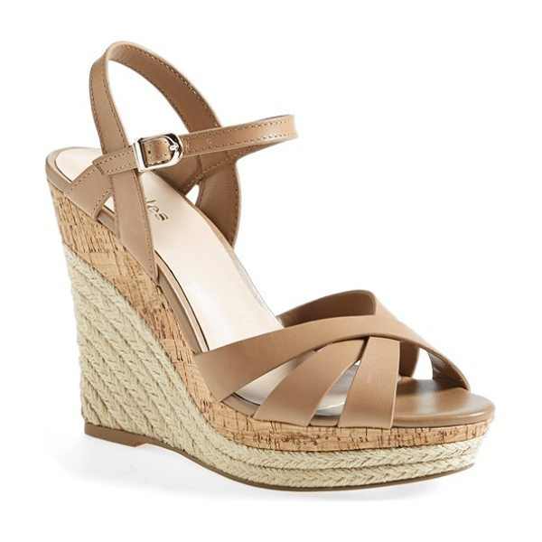 Charles by Charles David astro espadrille sandal in nude leather - A cork and braided espadrille wedge lends plenty of...