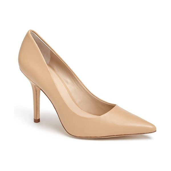 Charles by Charles David Charles david sway ii pointy toe pump in camel leather - An immaculate single-sole pump with a pointed toe is...