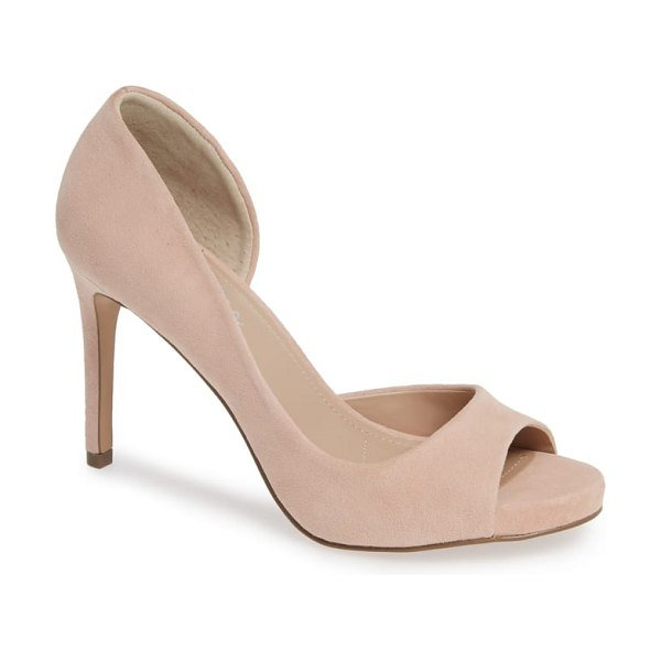 Charles by Charles David chess open toe pump in pink