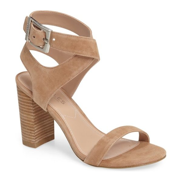 Charles by Charles David eddie sandal in natural suede - A wide buckle strap furthers the contemporary appeal of...