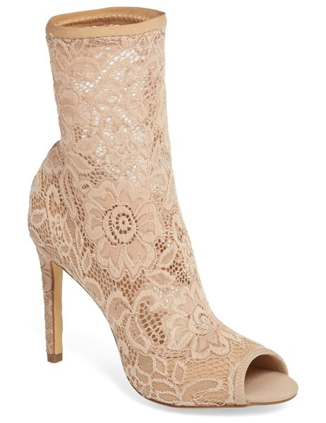 Charles by Charles David imaginary lace sock bootie in beige