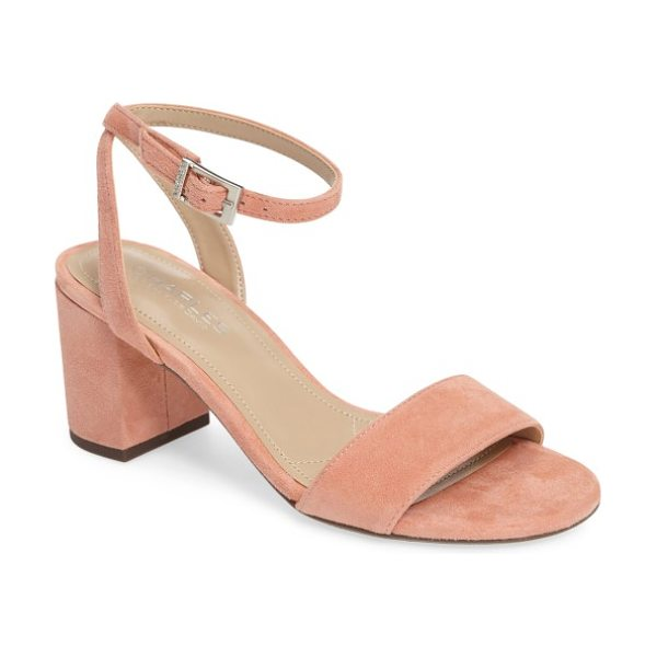 Charles by Charles David keenan sandal in blush suede - A delicate, floating ankle strap balances the bold,...