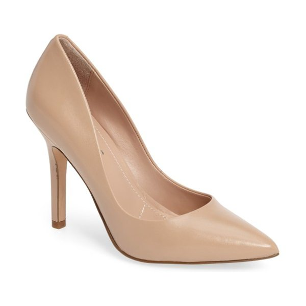 Charles by Charles David maxx pointy toe pump in nude leather - Comfort and stylish sophistication fuse together in a...