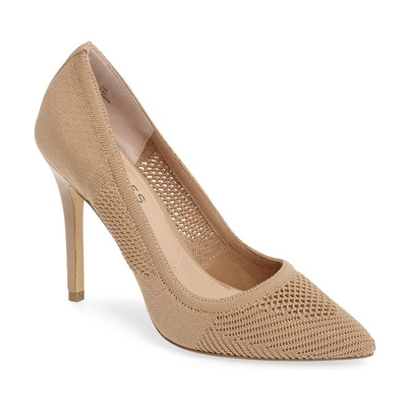 Charles by Charles David pacey knit pump in nude stretch knit fabric - Distinctive stretch knit further elevates a classic...