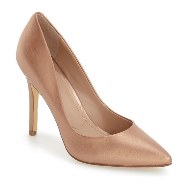 Charles by Charles David 'pact' pump in light gold metallic leather - A low-cut topline maximizes the leg-lengthening chic of...