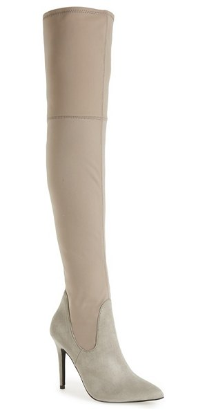 CHARLES BY CHARLES DAVID premium over the knee boot - A Chelsea-influenced boot gets a glamorous update in a...