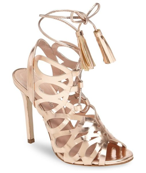 CHARLES BY CHARLES DAVID priscilla cage sandal - Tassel-tipped laces add a bit of swing to every step in...