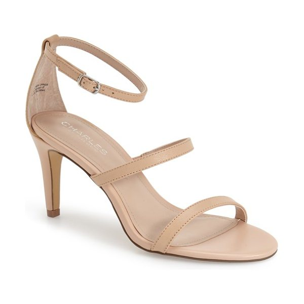 CHARLES BY CHARLES DAVID zion three strap sandal - A trio of thin, sleek straps stretch across an open-toe...