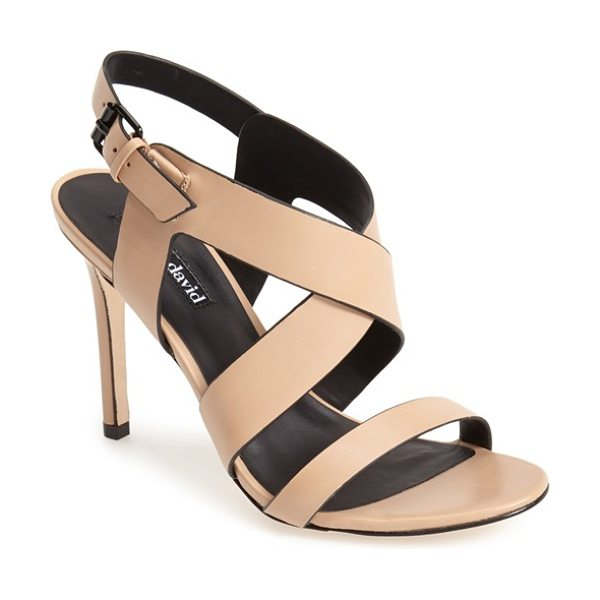 Charles David ivette strappy sandal in nude leather