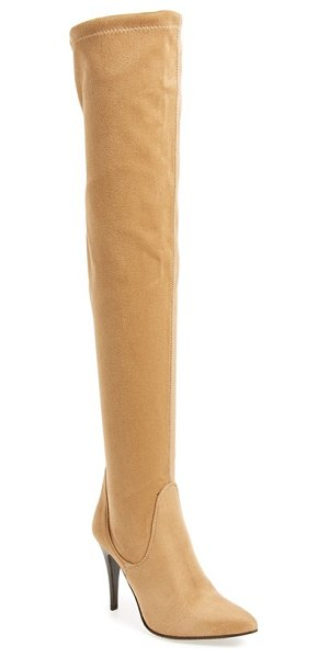 CHARLES DAVID katerina over the knee boot - A pointy toe and stiletto heel heighten the...