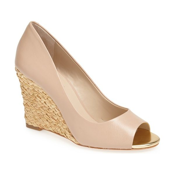 Charles David nemesis wedge pump in nude leather - A versatile pump shaped from smooth leather is lifted by...