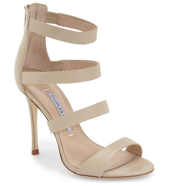 Charles David olina sandal in nude leather - Take on the night in style with this chic suede sandal...