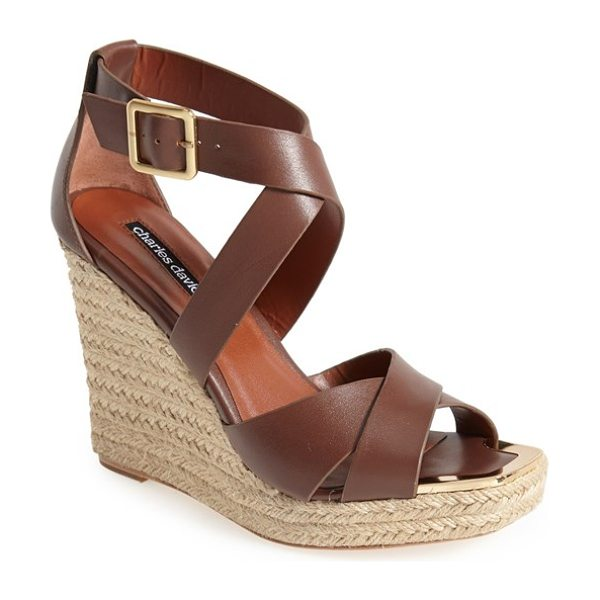 CHARLES DAVID olympia wedge sandal - An espadrille wedge adds a hint of earthy sophistication...