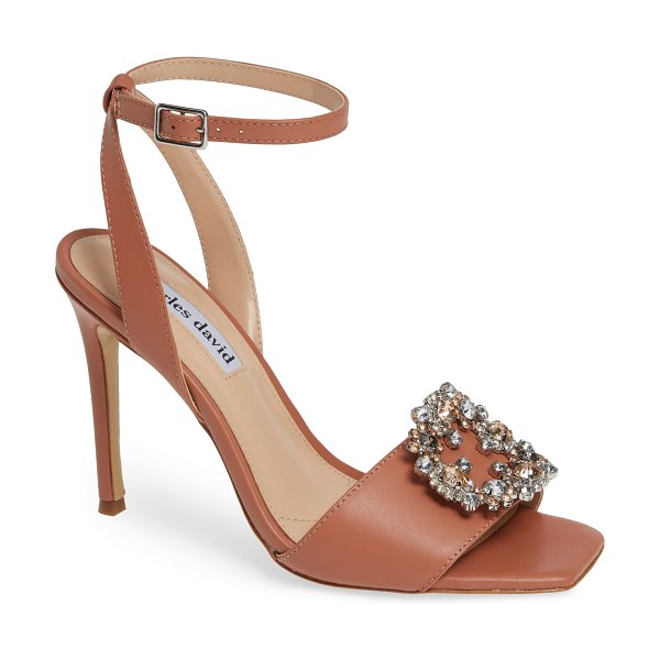 Charles David vanity crystal embellished sandal in pink