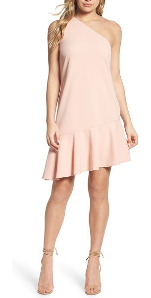 CHARLES HENRY one-shoulder ruffle dress - Fresh and chic, this one-shoulder shift with pretty...