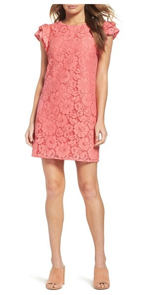 CHARLES HENRY ruffle shift dress - Ruffled cap sleeves up the romantic charm of this...