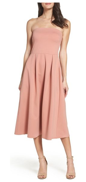 Charles Henry strapless midi dress in blush - A strapless dress looks simply chic with a fitted...