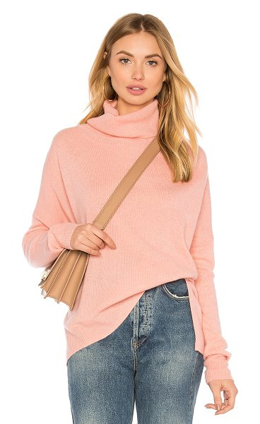 CHARLI Cilian Turtleneck Sweater in pink - 100% cashmere. Dry clean only. Knit fabric. Ribbed trim....