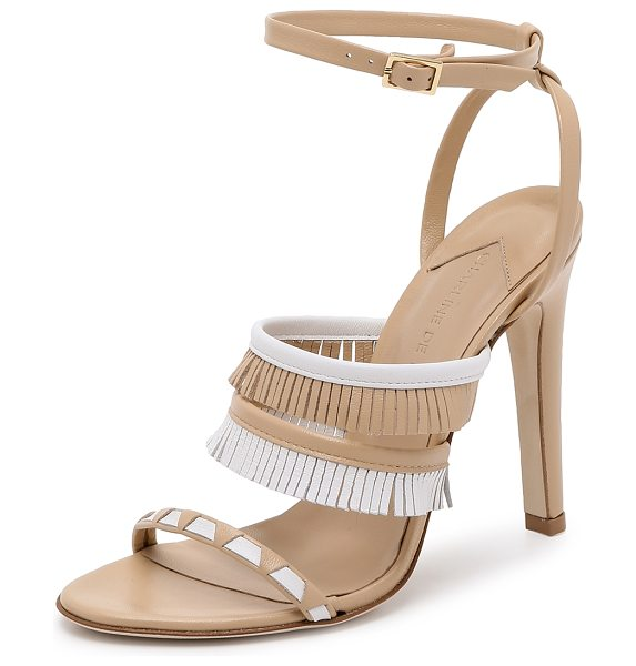 Charline De Luca Swaihili sandals in nude/white