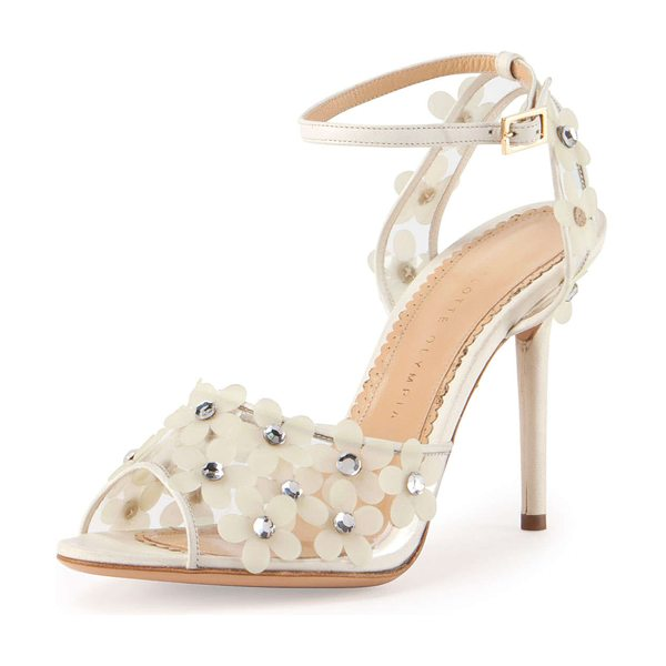 CHARLOTTE OLYMPIA Daisy pvc ankle-wrap sandal - Charlotte Olympia sandal in clear PVC, featuring...