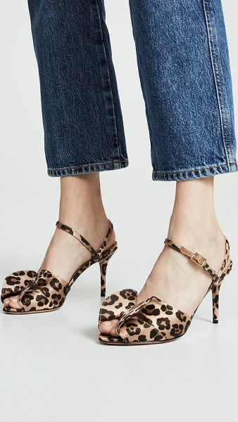 Charlotte Olympia patrice sandals in leopard - Fabric: Crepe satin Leopard print Structural bow detail...