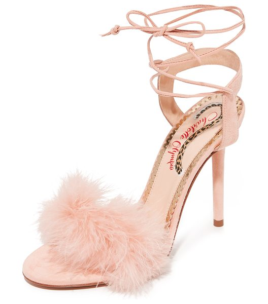 Charlotte Olympia salsa heels in blush - Delicate ostrich feathers add a retro glamour to these...