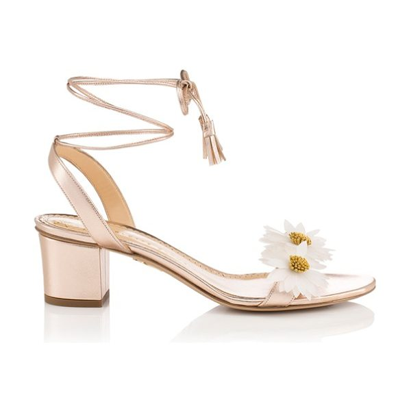 Charlotte Olympia tara lace-up sandal in rose gold