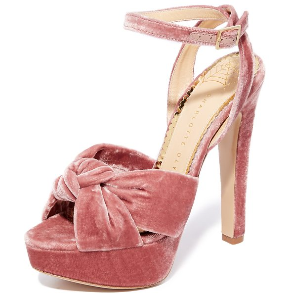 Charlotte Olympia tiffani ankle strap pumps in blush - Retro-inspired Charlotte Olympia pumps crafted in...
