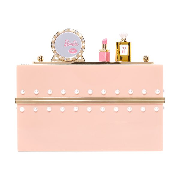 Charlotte Olympia x barbie world clutch box in blush - Rows of imitation pearls add elegance to this Charlotte...