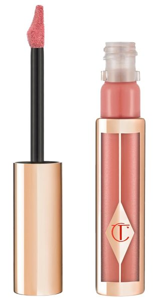 Charlotte Tilbury hollywood lips liquid lipstick in pin up pink/ coral pink