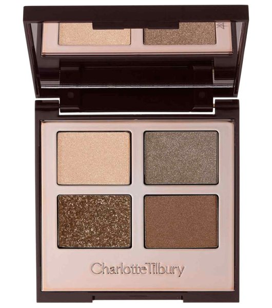 Charlotte Tilbury luxury palette in the golden goddess color-coded eyeshadow palette - - What it is: A palette with four harmonious eye color...