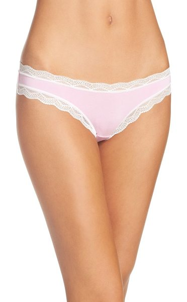 Cheekfrills lace trim bikini in rose pink - Seriously soft modal jersey makes this low-rise bikini...