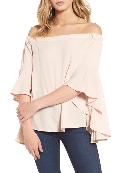 CHELSEA28 bell sleeve off the shoulder top - Cut with dramatic, fluttery bell sleeves, this...