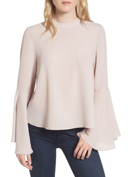 Chelsea28 bell sleeve top in pink hush - Your hands can do all the talking when you're wearing...