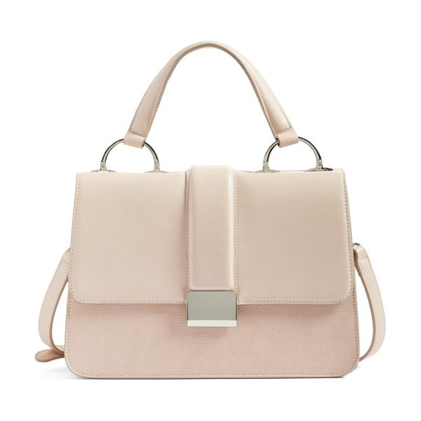 Chelsea28 blake faux leather top handle satchel in pink hero - Minimalist composition maximizes the smart, contemporary...