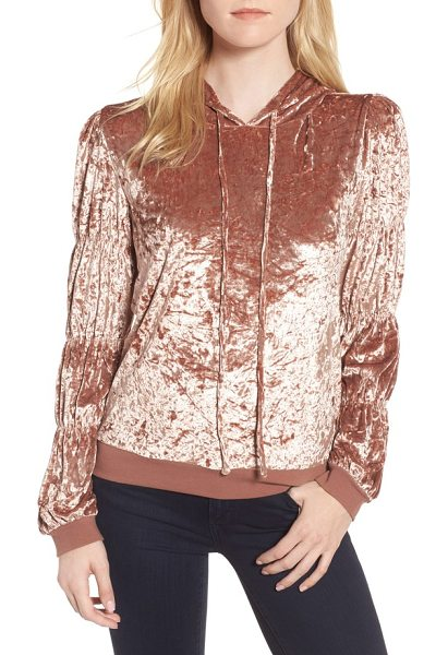 Chelsea28 crushed velvet hoodie in pink compact - Step up your off-duty look in this crushed velvet hoodie...