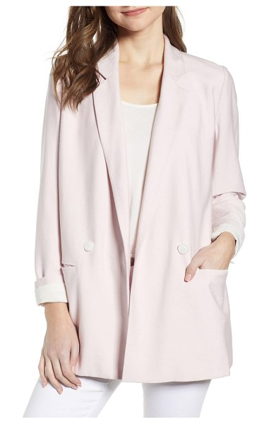 Chelsea28 double breasted boxy blazer in pink