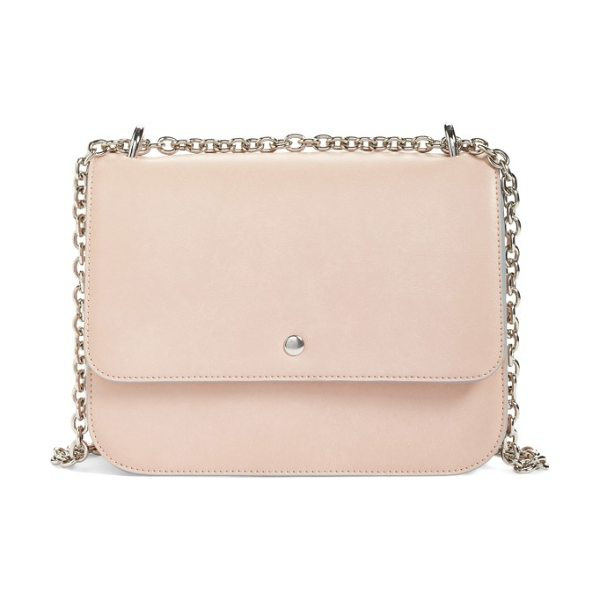 Chelsea28 dahlia faux leather shoulder bag in pink hero