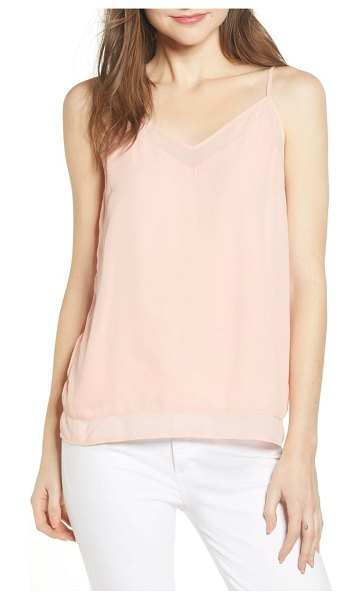 Chelsea28 illusion camisole in pink