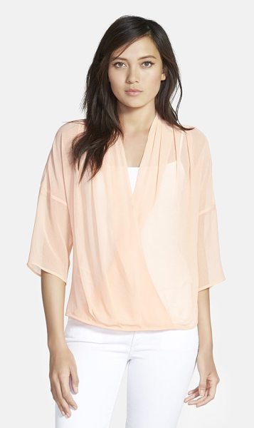Chelsea28 kimono wrap top in pink coho - Available in a wide variety of solid colors and prints,...