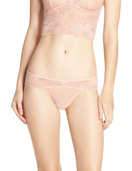 Chelsea28 lacy days hipster briefs in pink creole - Scalloped lace gives an extra-romantic look to these...