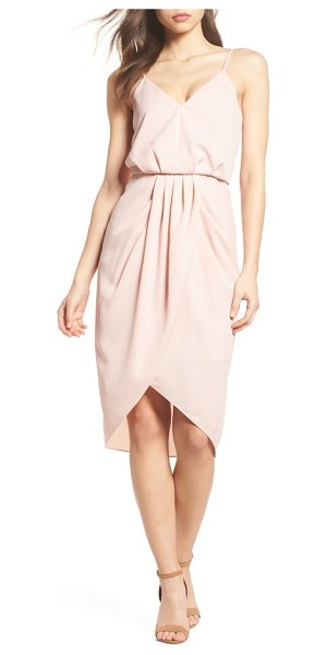Chelsea28 print faux wrap dress in pink peach - Artfully appointed in optic floral designs, this...