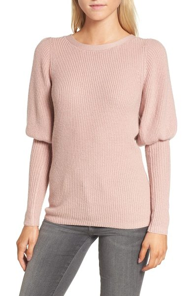 Chelsea28 puff sleeve sweatser in pink adobe - A contemporary take on a classic sweater, this...