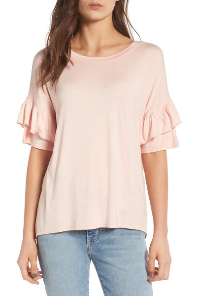 CHELSEA28 ruffle sleeve tee - An easy tee with softly shaped ruffles at the sleeves...