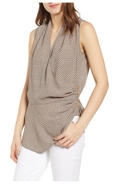 Chelsea28 wrap tank top in brown