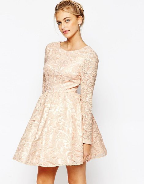 CHI CHI LONDON Allover Sequin Mesh Prom Skater Dress - Dress by Chi Chi London, Embroidered mesh, Sequin...