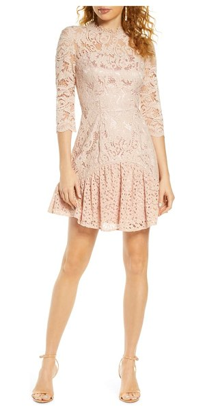 Chi Chi London emberley lace cocktail dress in pink